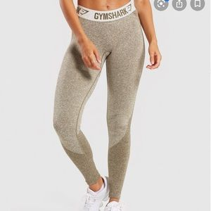 Gymshark flex leggings size M, color: khaki/sand